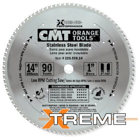 INDUSTRIAL XTREME SAW BLADES FOR STAINLESS STEEL [CERMET]